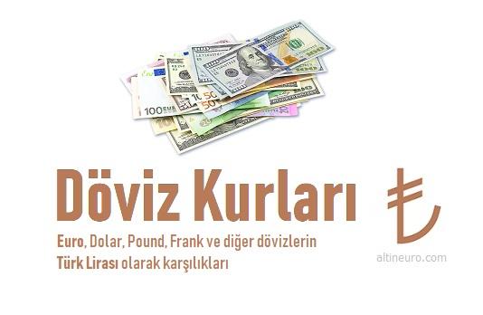 döviz kurları, euro kaç tl